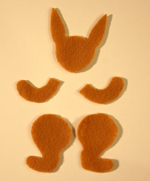 bunny parts, cut out