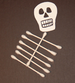 q tip skeleton craft template - q tip skeleton