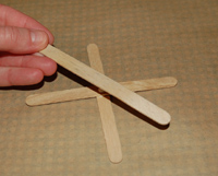 adding a third popsicle stick