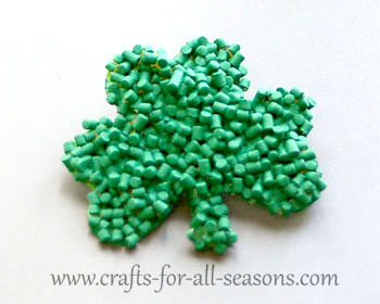 pasta shamrock craft