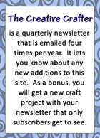 subscribe to The Creative Crafter