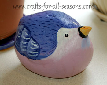 plaster bird craft