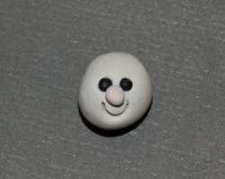photo of snowman's face