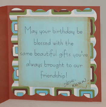Lyrical Letters Coffee Card