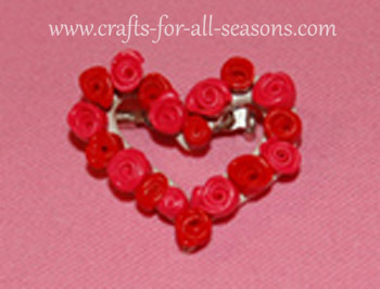 rose wreath pin
