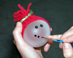 painting on a snowman face