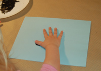 making hand print