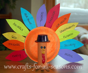 thankful turkey craft