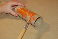 painting tube orange