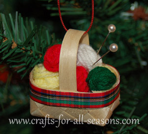 knitting basket ornament craft2