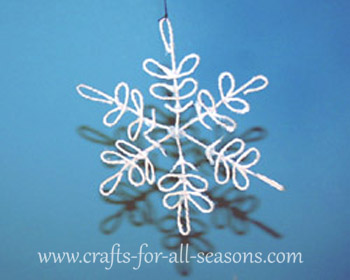 photo of string snowflake craft