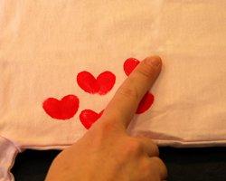 making fingerprint hearts