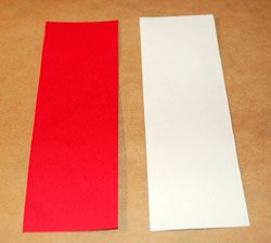 red and white cardstock