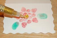 adding glitter glue