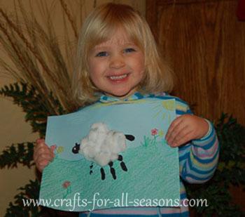 child's sheep craft