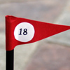 photo of golf flag