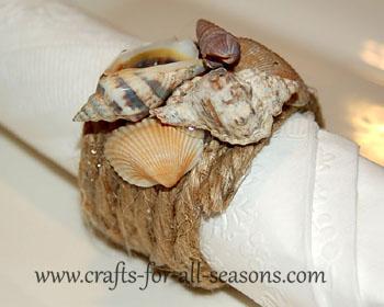 photo of seashell napkin rings