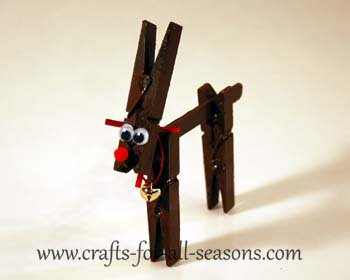 Clothespin reindeer craft