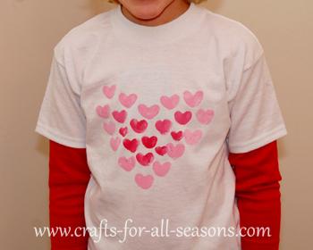painted Valentine's Day shirt