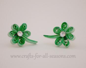 quilled shamrock earrings22