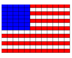 photo of American flag pattern