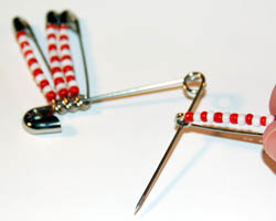 photo of threading pins