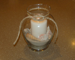photo of seashell centerpiece