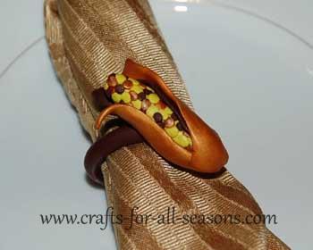 indian corn napkin rings