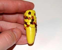 ear half filled with kernels