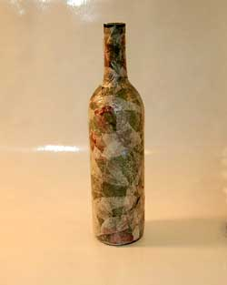 decoupaged bottle