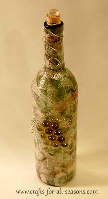 decorated wine bottle