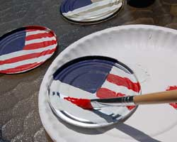 painting American flag
