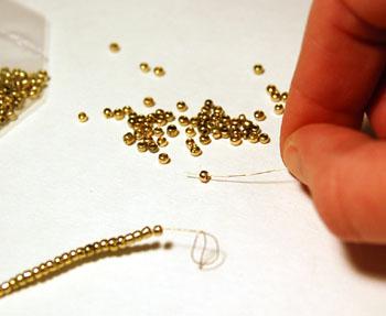 threading beads