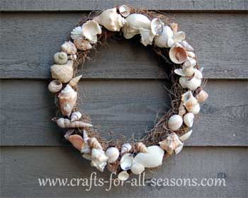 Craft Ideas Seashells on Seashell Wreath