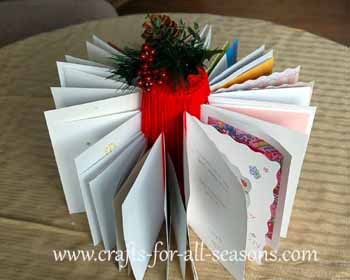 Christmas card holder craft
