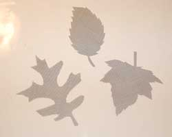 cut out leaf patterns