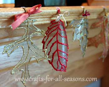 window screen autumn leaf craft