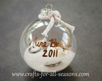 Craft Ideas  Glass Bottles on Beach Ornament