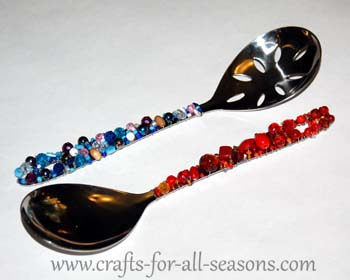 beaded spoons