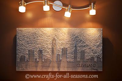 Cleveland string art