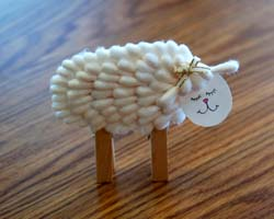 cotton swab lamb