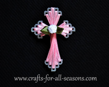 plastic canvas ribbon cross