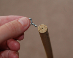 small hole drilled