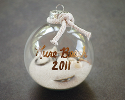 glass ball shell ornament