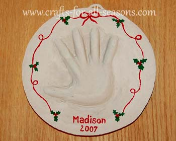 hand print plaque