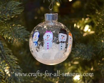 handprint snowman ornament