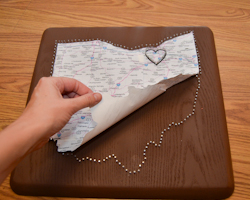 peeling off map