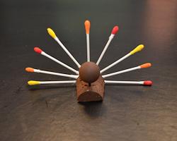 q-tip turkey craft