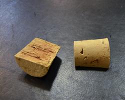 corks cut in half