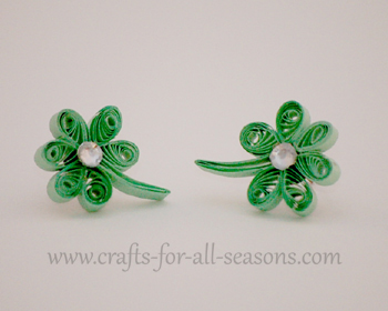 quilled shamrock earrings